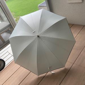 日傘のお手入れ。