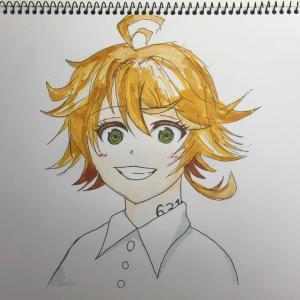 「約束のネバーランド」のエマ☆娘のイラスト