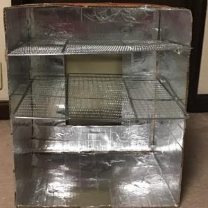 段ボール燻製器4号で日本シリーズ用晩酌のツマミ作り