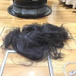 鬼滅の刃の炭治郎❣️お客様の髪で髪アート