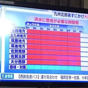 九州の大雨は峠を越えたようです