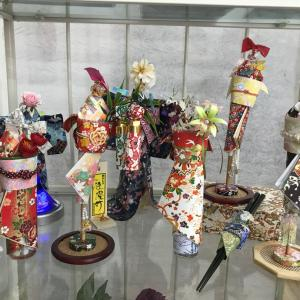 仙台市内にて展示中です『着物ドールリウム』