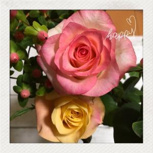 お花に癒されてます^^