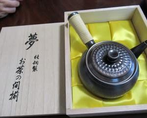 銅製の急須・・・お茶大好き