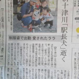 新十津川「駅長犬」逝く