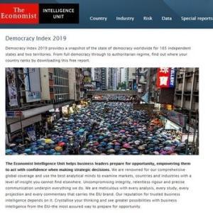 日本の民主主義は世界ランキングで何位?