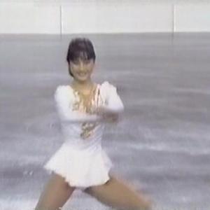 八木沼純子 フィギュアスケート 白い衣装