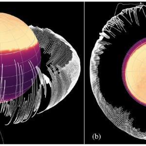 ガニメデにおける高密度相O2の地理的分布