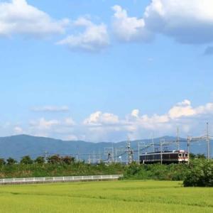 広がる猛暑の夏空 ・ 近鉄田原本線(奈良県)