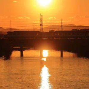 夕暮れ 太陽の道  ・  近鉄橿原線(奈良県)