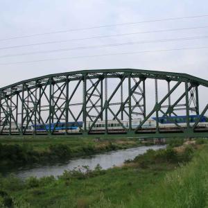 日本一スパンの長い トラス橋 ・ 澱川(よどがわ)橋梁/近鉄京都線 (京都府)