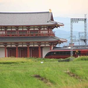 「特急 ひのとり」平城宮跡を行く ・ 近鉄奈良線(奈良県)