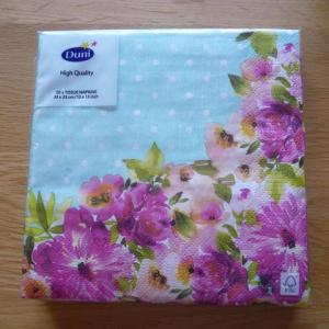 花柄紙ナプキン