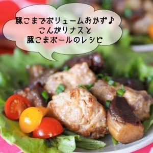 【レシピ・主菜】こんがりナスと豚こまボール