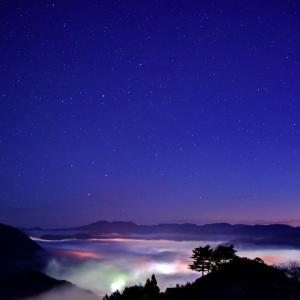 竹田城跡にて 夜明け前