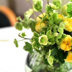 黄色いバラのブーケロン☆