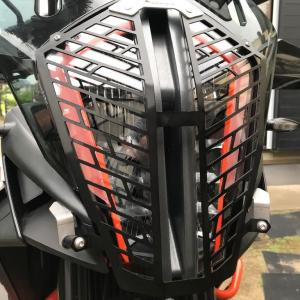 Quick Release Aluminum Headlight Guard。