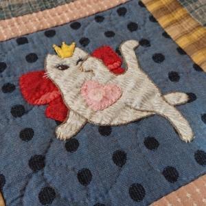 プリンセス招き猫のバッグ完成しました♪