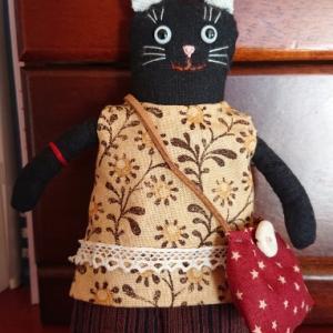 黒ネコのまめネコちゃん完成しました♪