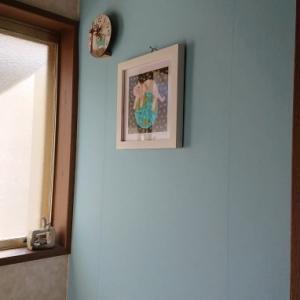 トイレの壁紙ときりんのブロック♪