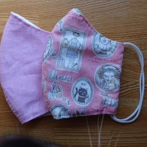 ピンクの布マスク♪