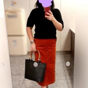 オレンジタイトスカートを着こなしたい