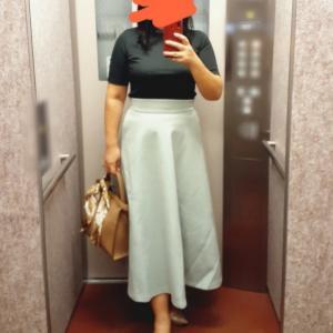 ふんわりミントグリーンスカートで気持ちもあげて