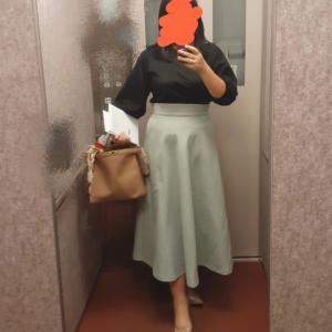お気に入りミントグリーンスカートで同期会