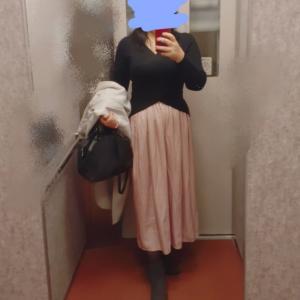 理想のピンクスカートにユニクロで出会った&ナポリタン