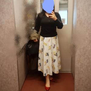 お気に入り花柄スカートでラスト2days