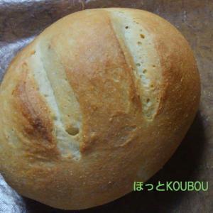 息子にお土産、豆腐黒糖パン。