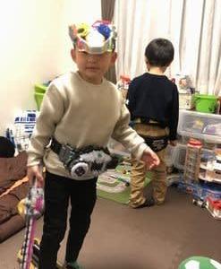 訪問着&5歳袴のお着付のあと、女子会(子供付き)