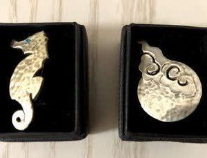Silver925 銀細工の帯留