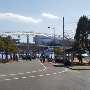 開幕戦、トランスコスモススタジアム長崎の風景