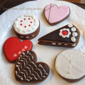 バレンタインにアイシングクッキーを♥