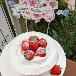 むすこの誕生日に。ピザとケーキでお祝い(*´︶`*)