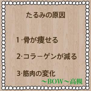 高槻〜BOW〜 法令線・目元・フェイスラインのたるみが気になる原因は何?