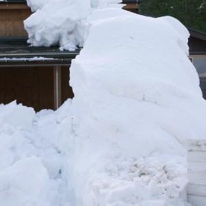 月岡温泉の雪