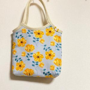 黄色のお花のバッグ