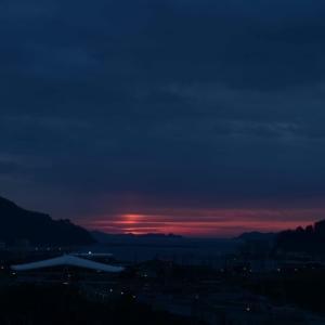 女川ぐらし 2021.1.22 AM6:50〜59 〜滅多に見られない朝焼けかな〜