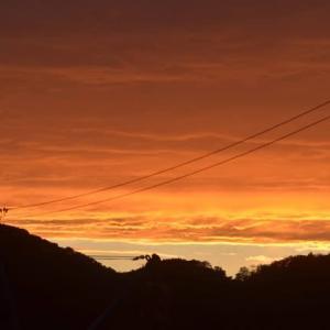 「おかえりモネ」初回放送記念の夕焼けのような。 〜 女川ぐらし 2021.5.17 PM6:48 〜