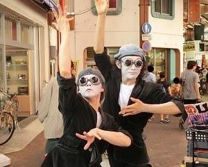 初めてみたパントマイムの2人組…カナールぺキノワ…2019大須大道町人祭にて…