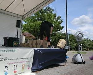 「あいち健康の森」で「日本大道芸フェスティバル」2日目…イベント広場で…MR.BUNBUNさんの「安全太郎」!!