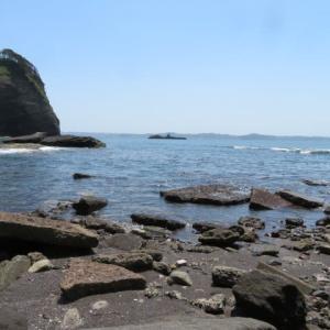 大房岬の海へ