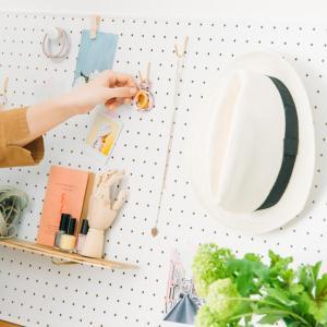 有孔ボードをバランスよく飾る方法 ウェブマガジン「写真と、ちょっといい暮らし」掲載