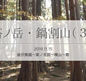 単独で塔ノ岳・鍋割山・栗ノ木洞を周回登山(3)