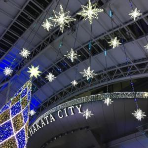 博多駅前のクリスマスイルミネーション2019