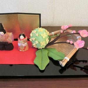 三月のしつらい「桃の花」