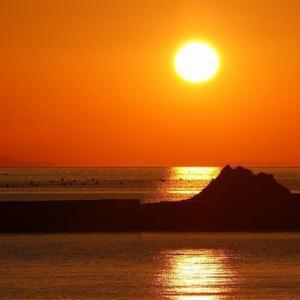 吉田の夕陽