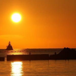 吉田のダルマ夕陽